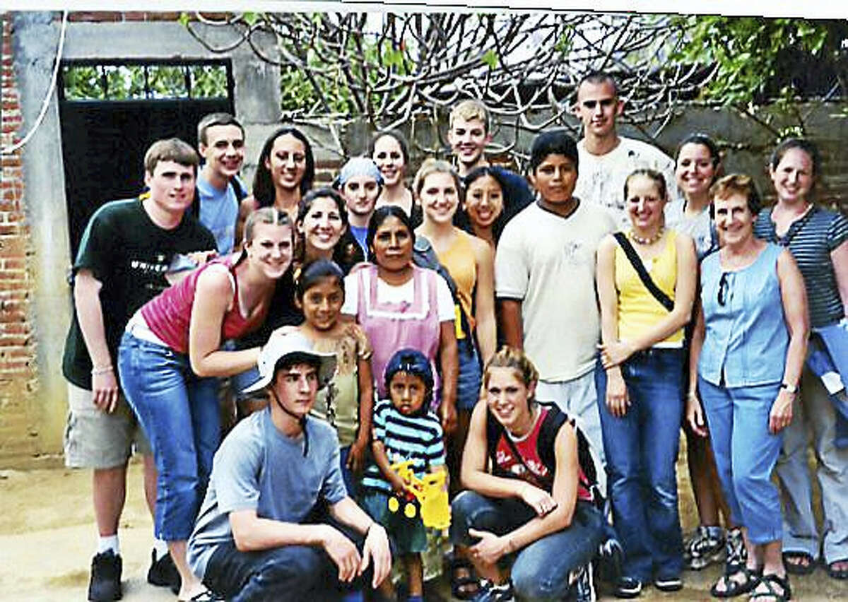 A CRHS student group visits the home of Rodrigo, the student the CRHS Spanish Honor Society sponsored for 14 years until his graduation from college in Oaxaca. Rodrigo now teaches special education in the mountain villages about five hours from the city of Oaxaca.
