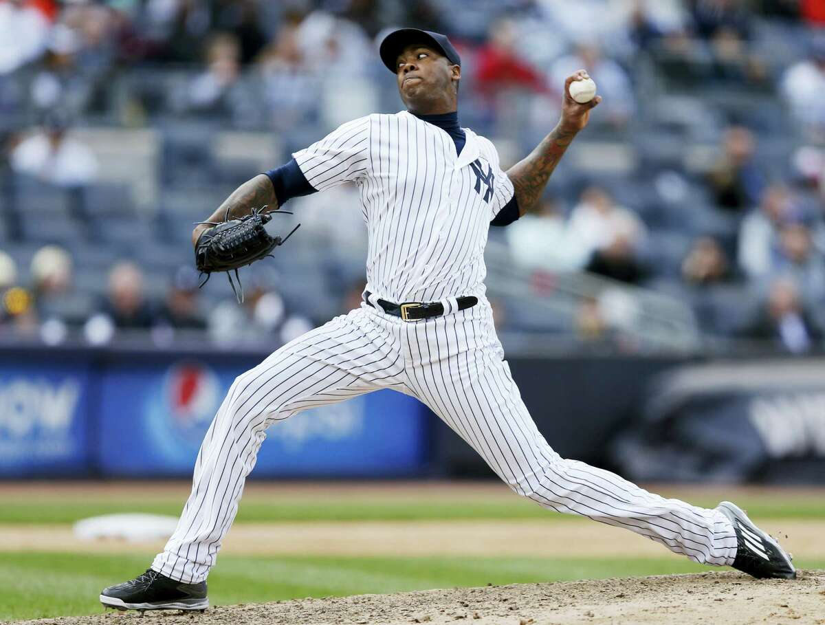 Aroldis Chapman closed out Sunday's 7-5 win over the White Sox for the Yankees.