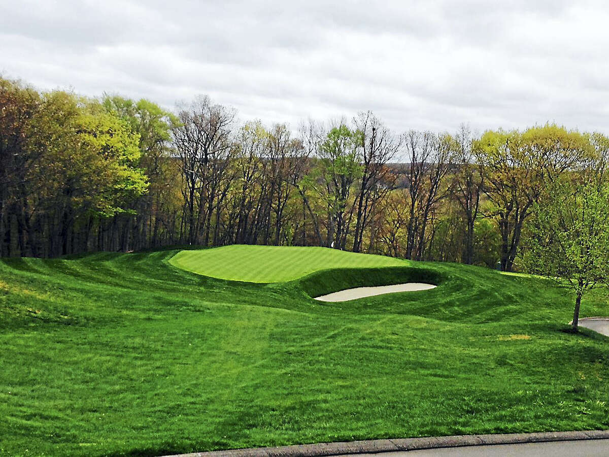 The greenside bunker on the left side of the 11th hole at TPC River Highlands was removed during the multi-million dollar renovation project.