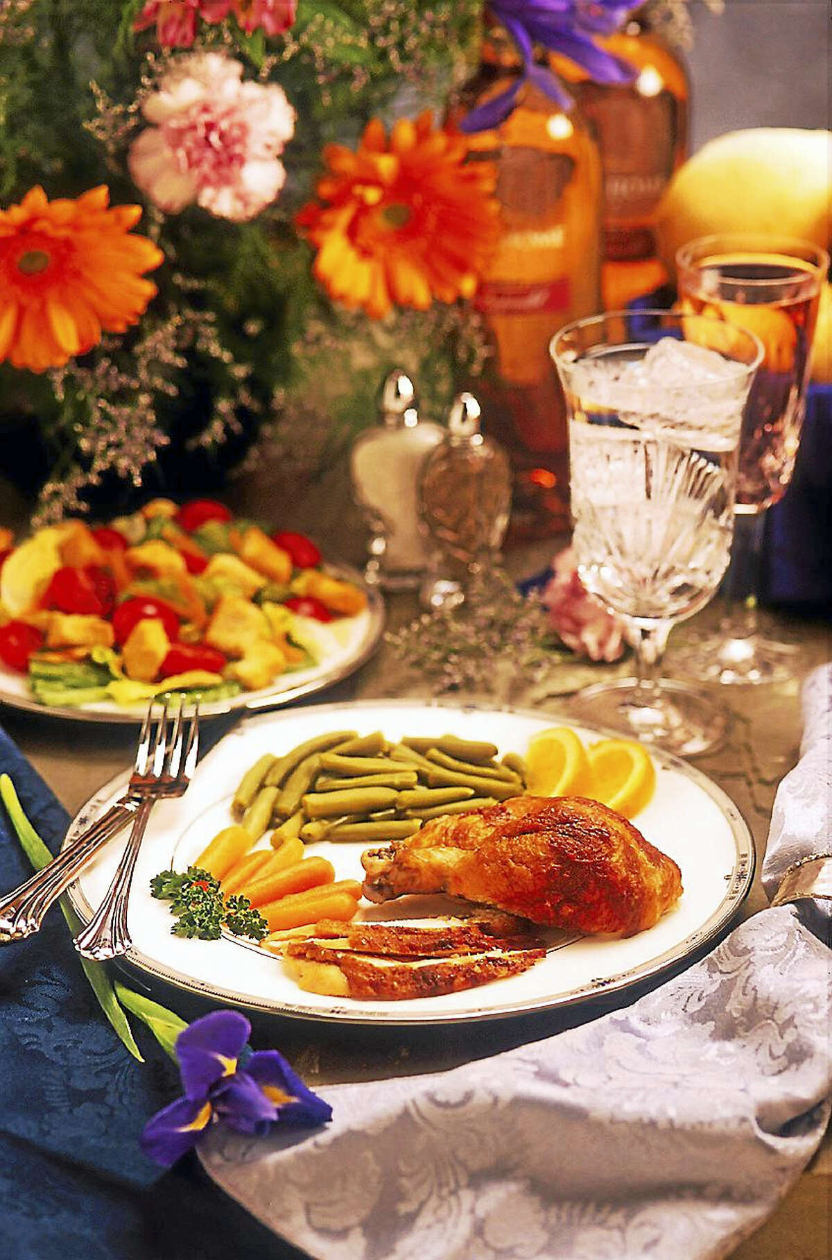A plate set for Thanksgiving