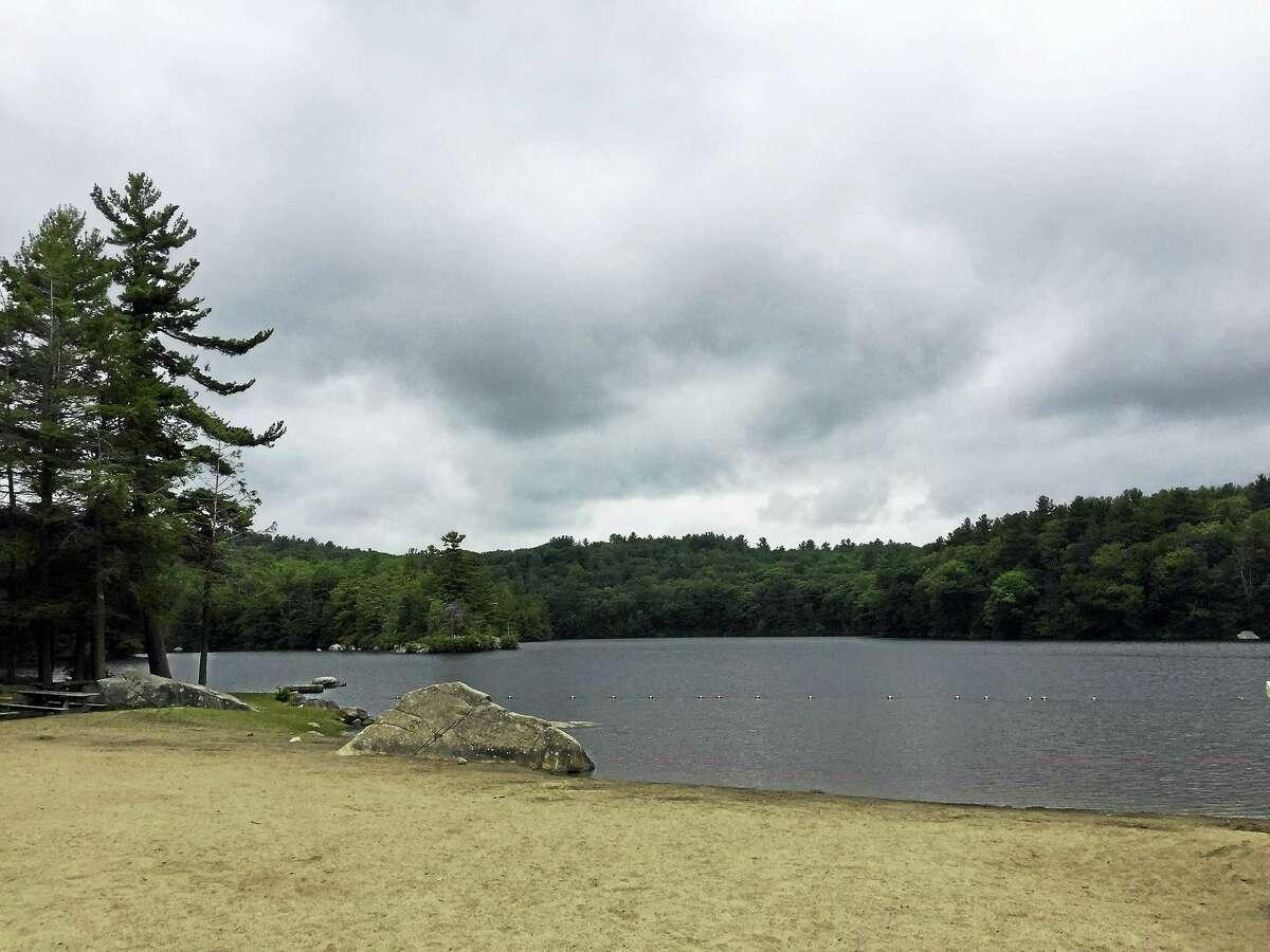 Burr Pond State Park in Torrington, as seen Thursday.
