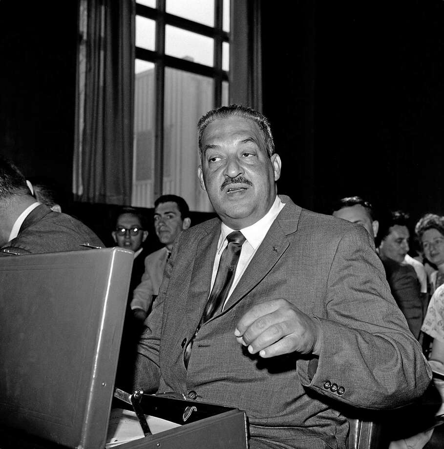 In this Aug. 8, 1962, file photo, Thurgood Marshall appears before a Senate Judiciary Subcommittee in Washington for a third hearing on his nomination as a judge of the U.S. Second Circuit Court of Appeals. Marshall, a former NAACP lawyer, was appointed to the bench by President John F. Kennedy in October 1961. He became solicitor general in 1965 and the first African-American Supreme Court justice in 1967, both under the Lyndon B. Johnson administration. Photo: ASSOCIATED PRESS  / AP