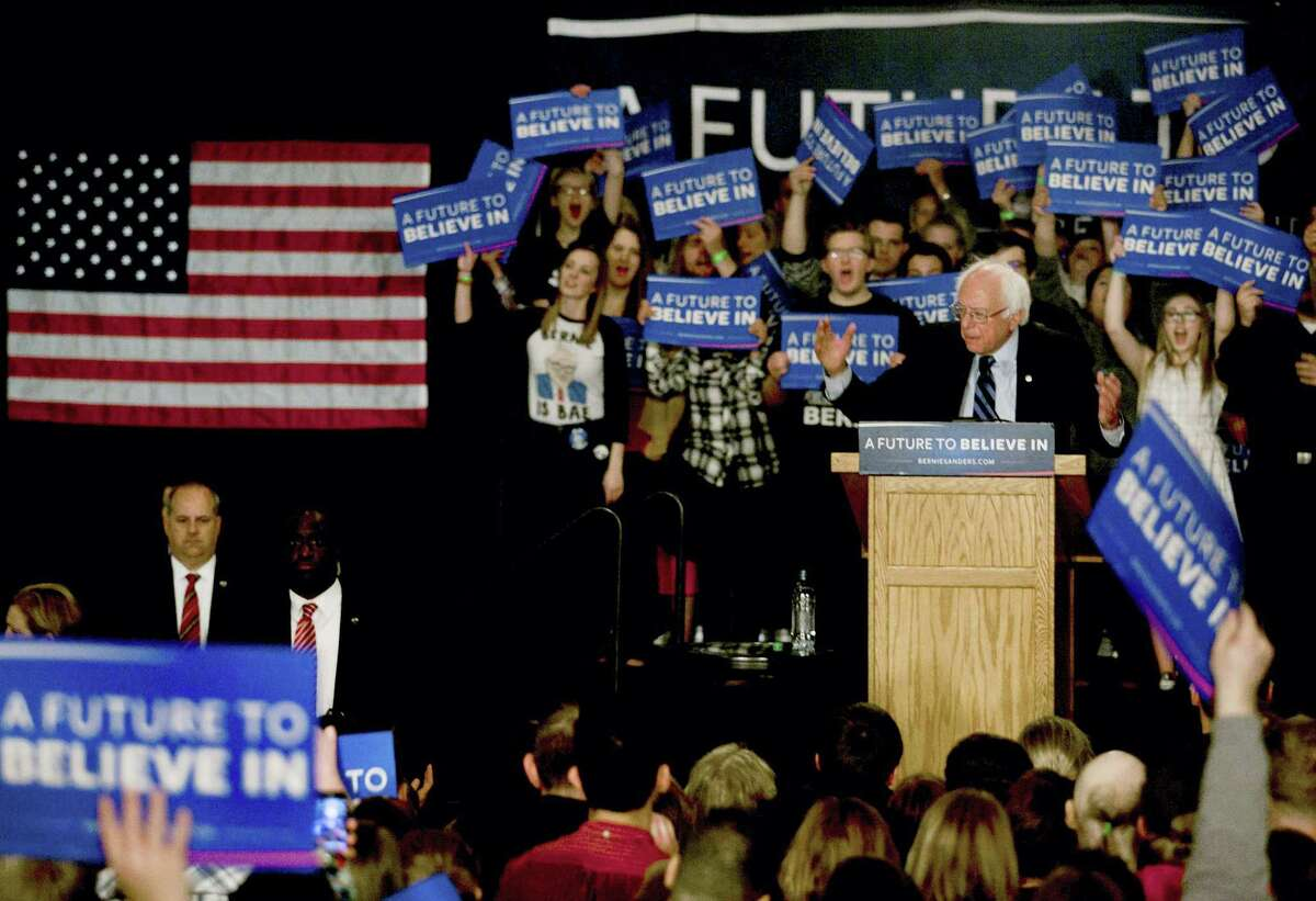 Democratic presidential candidate, Sen. Bernie Sanders, I-Vt. speaks during a campaign stop, Friday, May 13, 2016, in Fargo, ND.