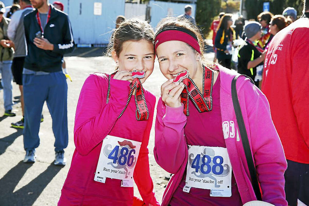 Everyone who crossed the finish line got a medal for completing the course.