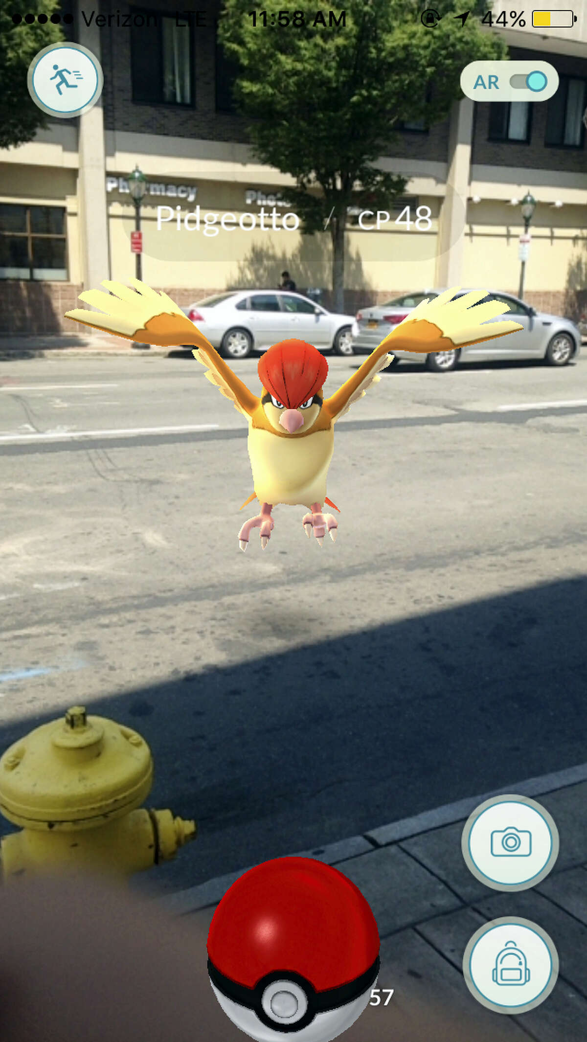 Screenshots from Pokemon Go game app show scenes from Downtown New Haven.