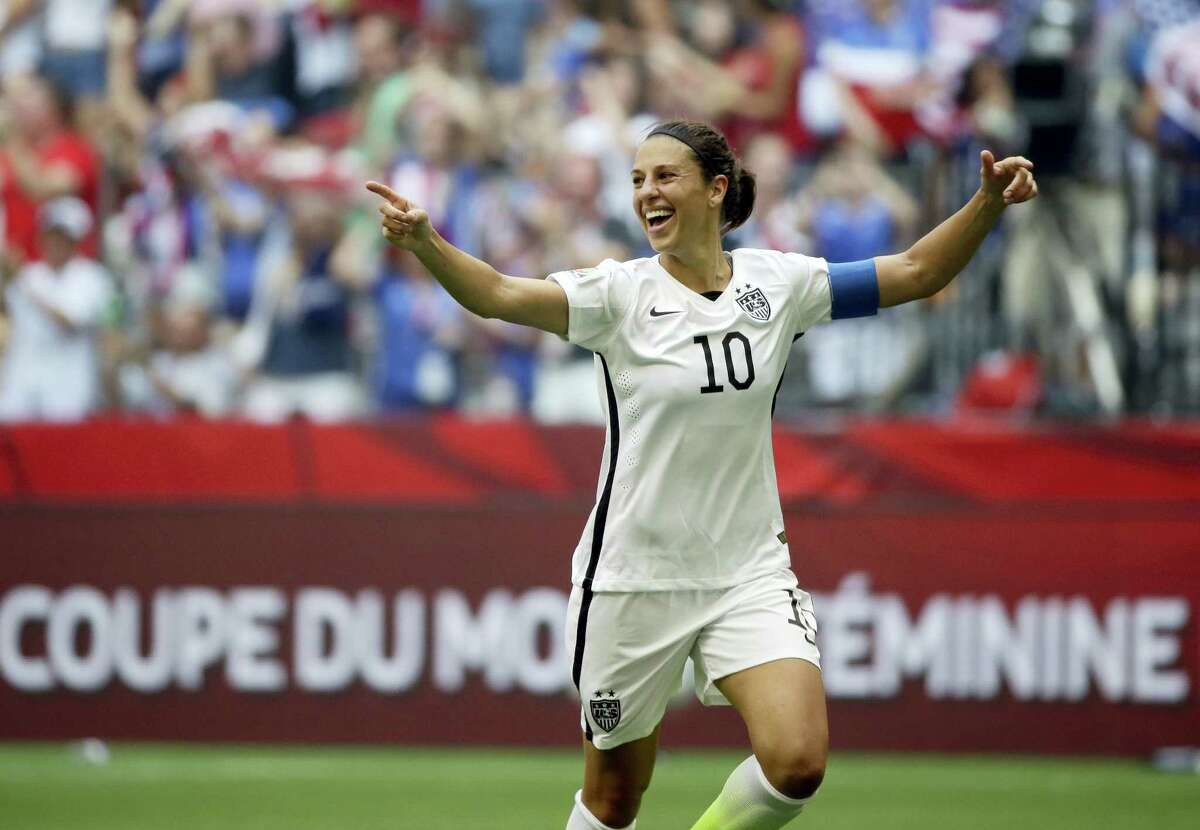 Carli Lloyd, above, along with Becky Sauerbrunn were named captains for the U.S. women's soccer team on Saturday.