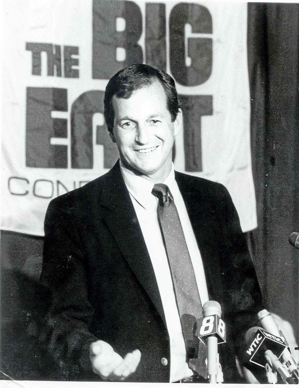 Jim Calhoun was named coach of the UConn men's basketball team on May 15, 1986.