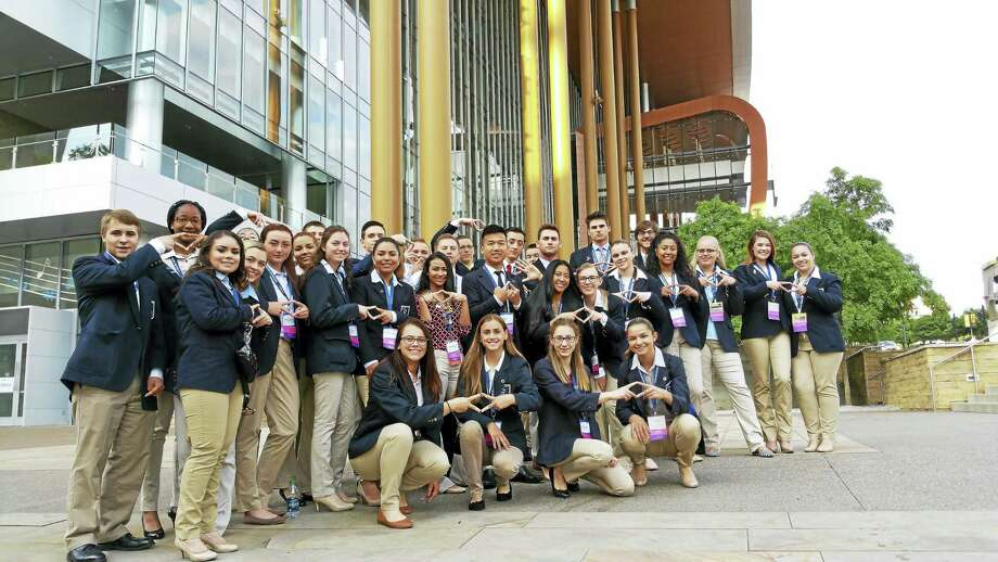 Middletown High School students participated in the annual DECA International Career Development Conference last month in Nashville, Tennessee. Photo: Contributed Photo