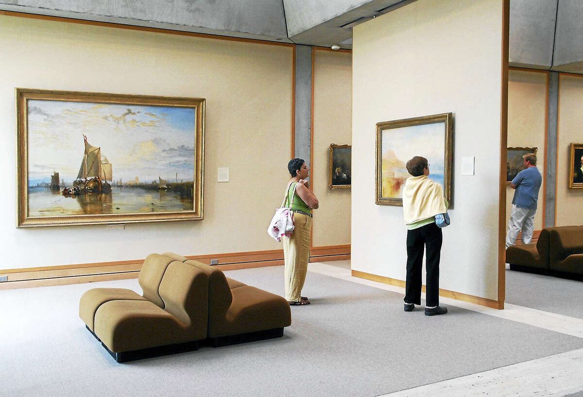 A gallery at the Yale Center for British Art