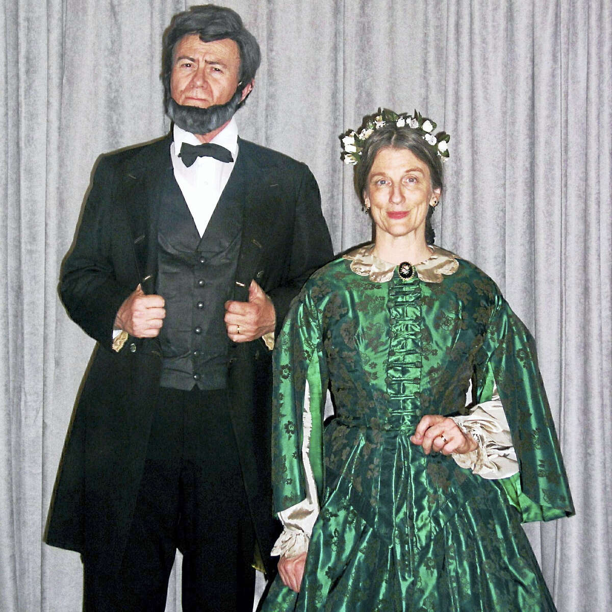 """Contributed photo Attached photos: William and Sue Wills will play the roles of Abraham and Mary Lincoln on July 21 during Chester Village West's free and open-to-the-public """"Presidents and First Ladies"""" performances at 10 a.m. and 2 p.m."""