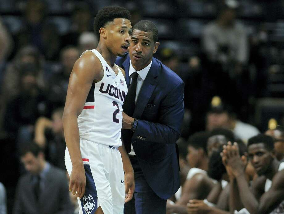 Connecticut's Jalen Adams and head coach Kevin Ollie understand the schedule does not give them time to dwell on their stunning loss to Wagner. Photo: Jessica Hill — The Associated Press  / AP2016