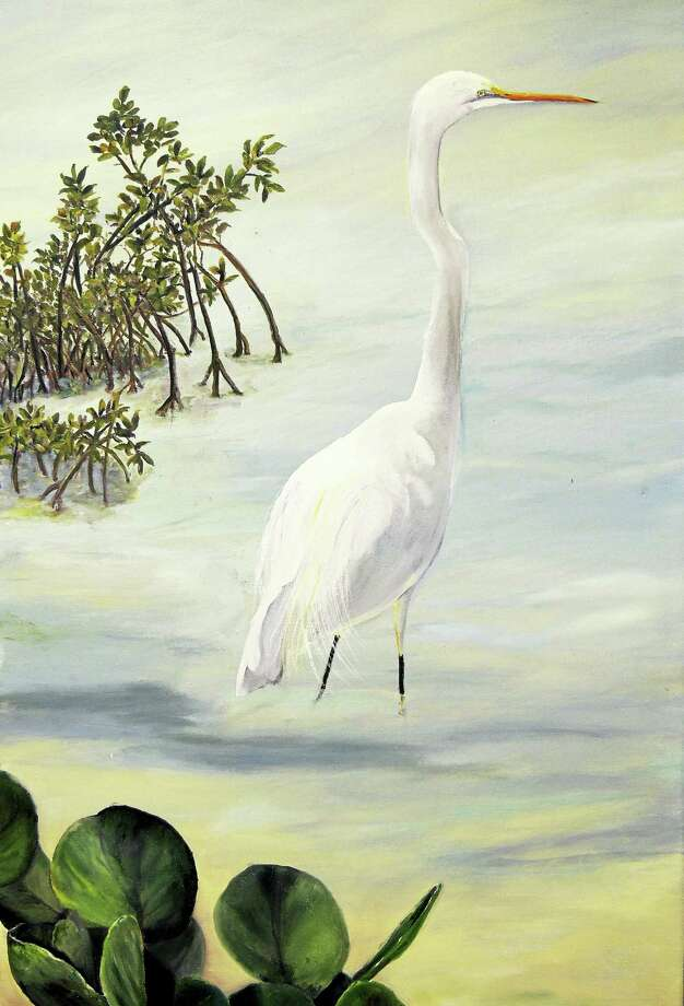 Contributed photoLinda McCarthy, The Heron, oil on canvas, is included in a new show at the Spectrum Gallery. Photo: Journal Register Co.
