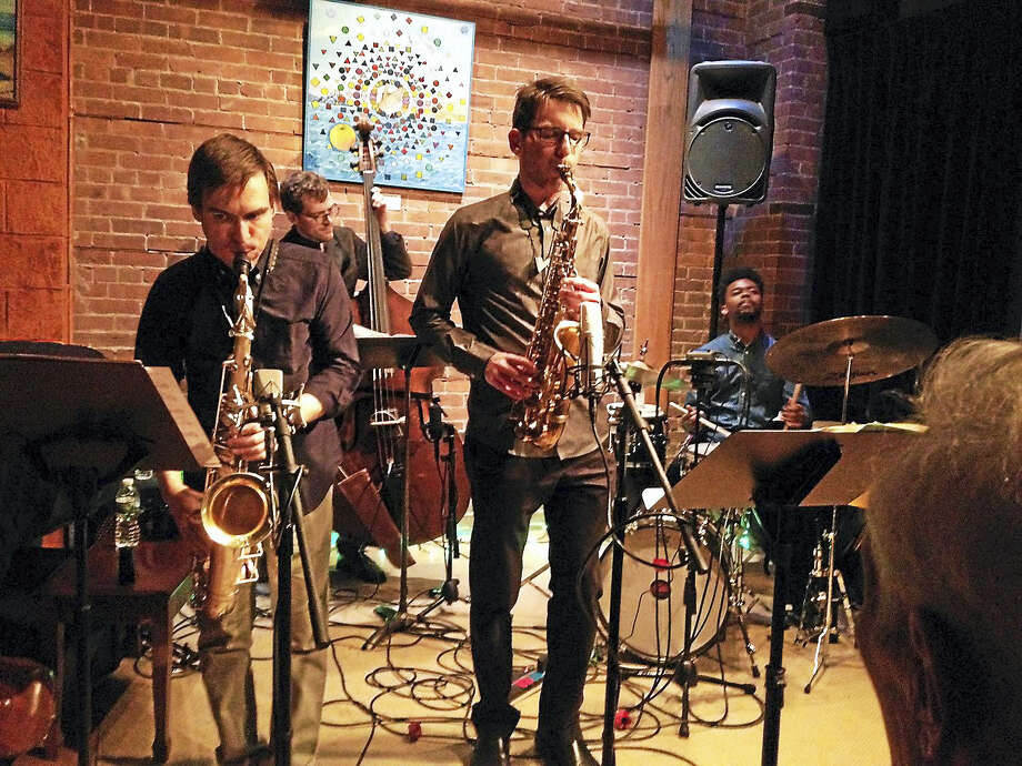 krisallenjazz.comJazz saxophone musician Kris Allen performs at the Buttonwood Tree in Mddletown with Frank Kozyra, Matt Dwonszyk and Jonathan Barber. Photo: Journal Register Co.