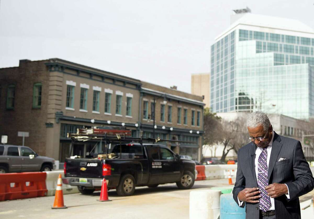 """Birmingham, Ala., Mayor William Bell talks to the Associated Press, Thursday, Jan. 7, 2016, in Birmingham. Bell says Alabama Chief Justice Roy Moore's order to state probate judges not to issue marriage licenses to same-sex couples is """"a black eye on the state."""" Moore stood firm Thursday in his position that the state's probate judges should not issue marriage licenses to gay couples, a stance he insisted is not in defiance of the U.S. Supreme Court ruling last summer that effectively legalized gay marriage nationwide."""