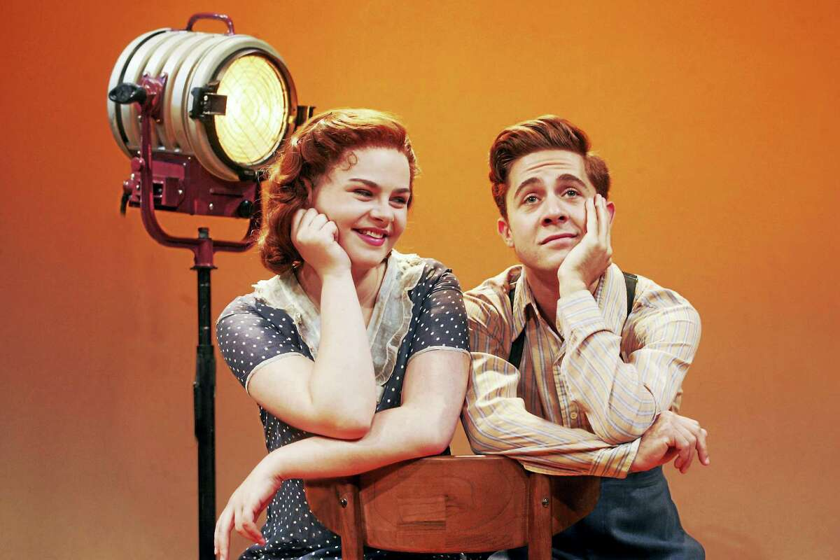 Ruby Rakos and Michael Wartella as Judy Garland and Mickey Rooney.