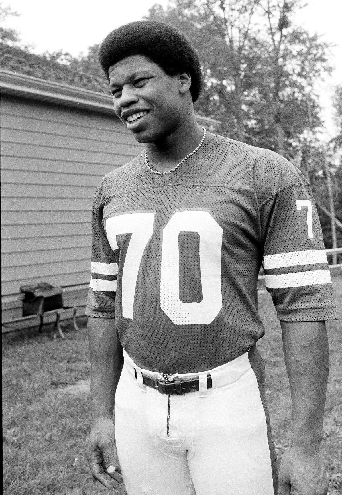 Gary Jeter, defensive end of the New York Giants, is shown here in 1978.