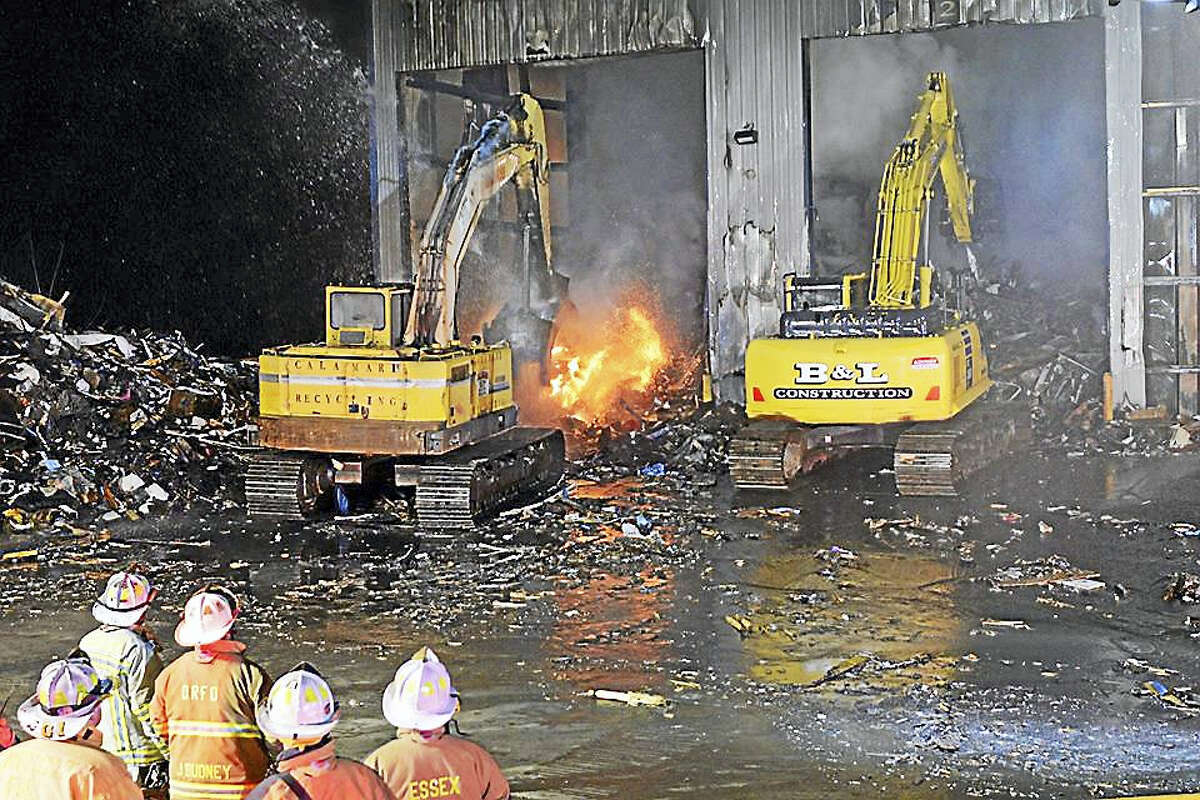 The Calamari Recycling facility caught fire Wednesday, burned for 30 hours, and reignited on Friday at 2 a.m.