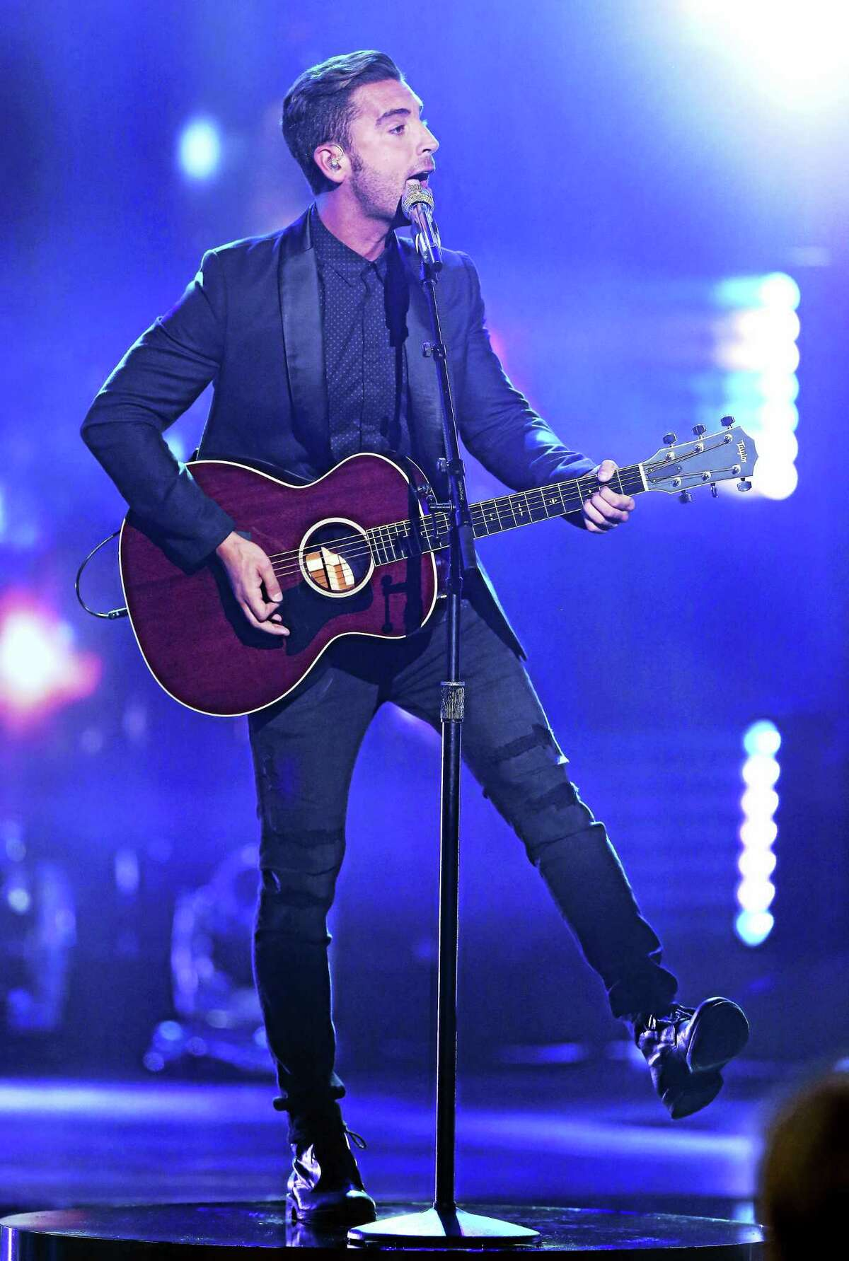 """Nick Fradiani performs at the """"American Idol"""" farewell season finale in April."""
