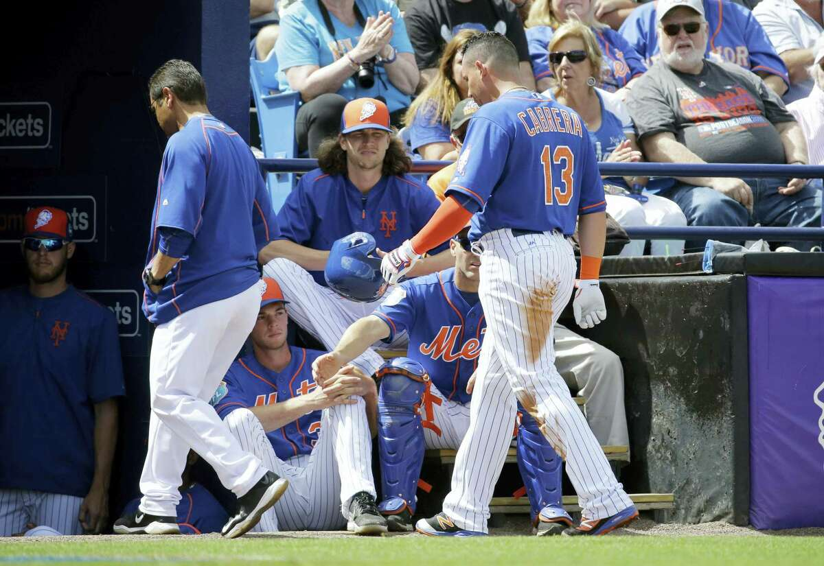 Asdrubal Cabrera leaves during the first inning of an exhibition game against the Cardinals on Thursday
