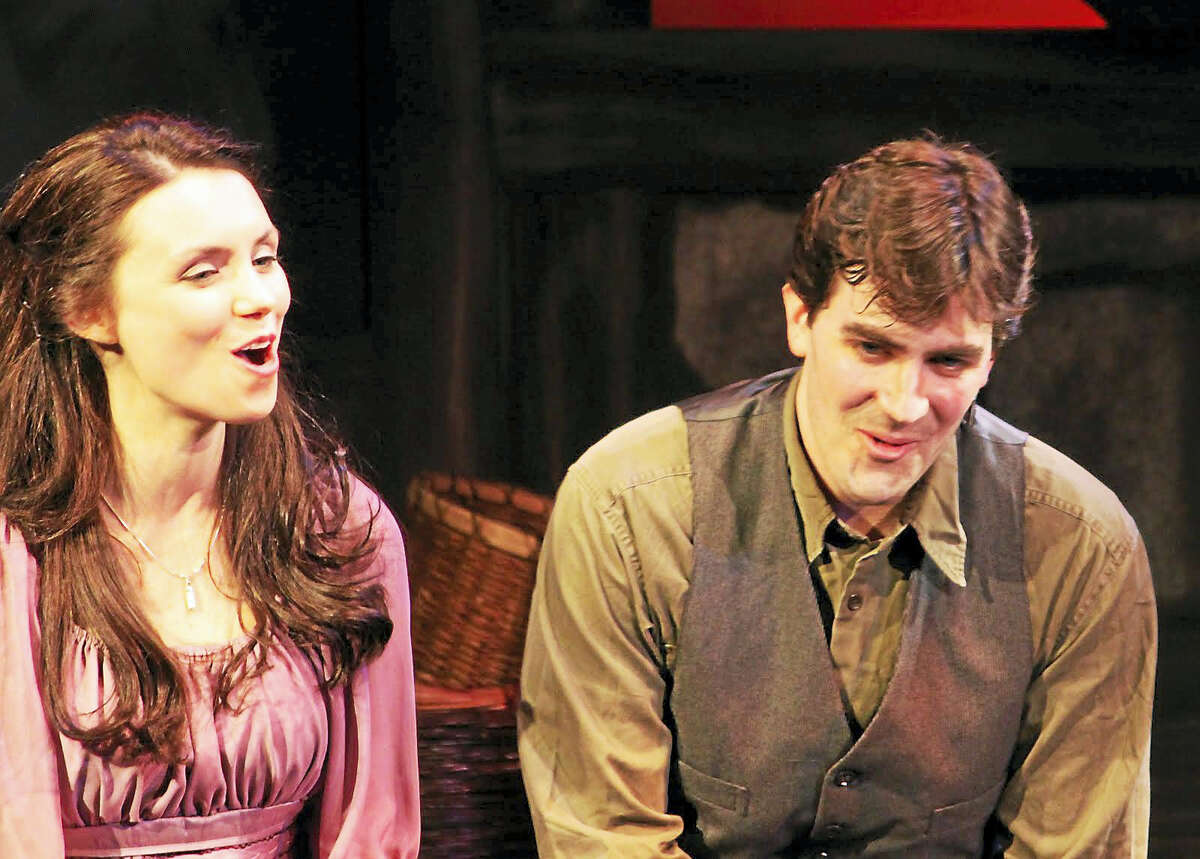 """Kathleen Mulready and Michael McDermott, pictured years ago in Ivoryton Playhouse's """"The Irish and How They Got That Way,"""" will perform Sunday at Ivoryton."""