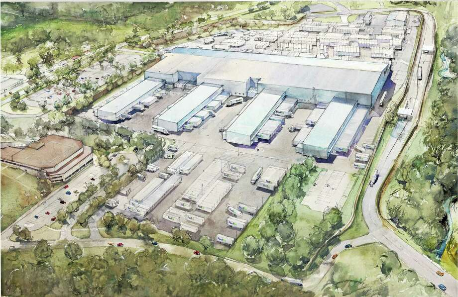 The new 525,000-square-foot FedEx Ground facility will be located at 1000 Middle Street, the site of the former Aetna campus. Photo: Courtesy David Westrick