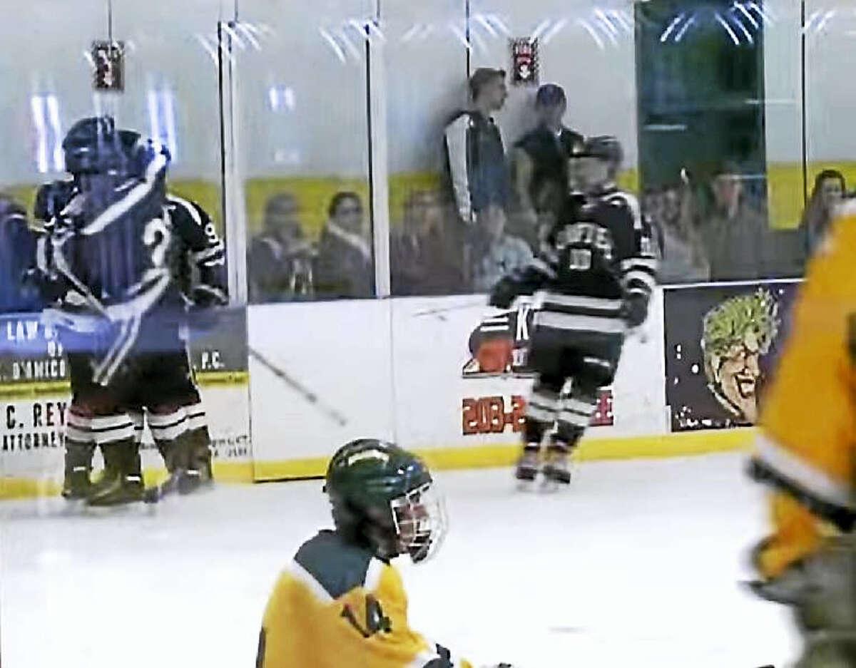 The Xavier hockey team topped Hamden in their match-up Wednesday, 5-2.