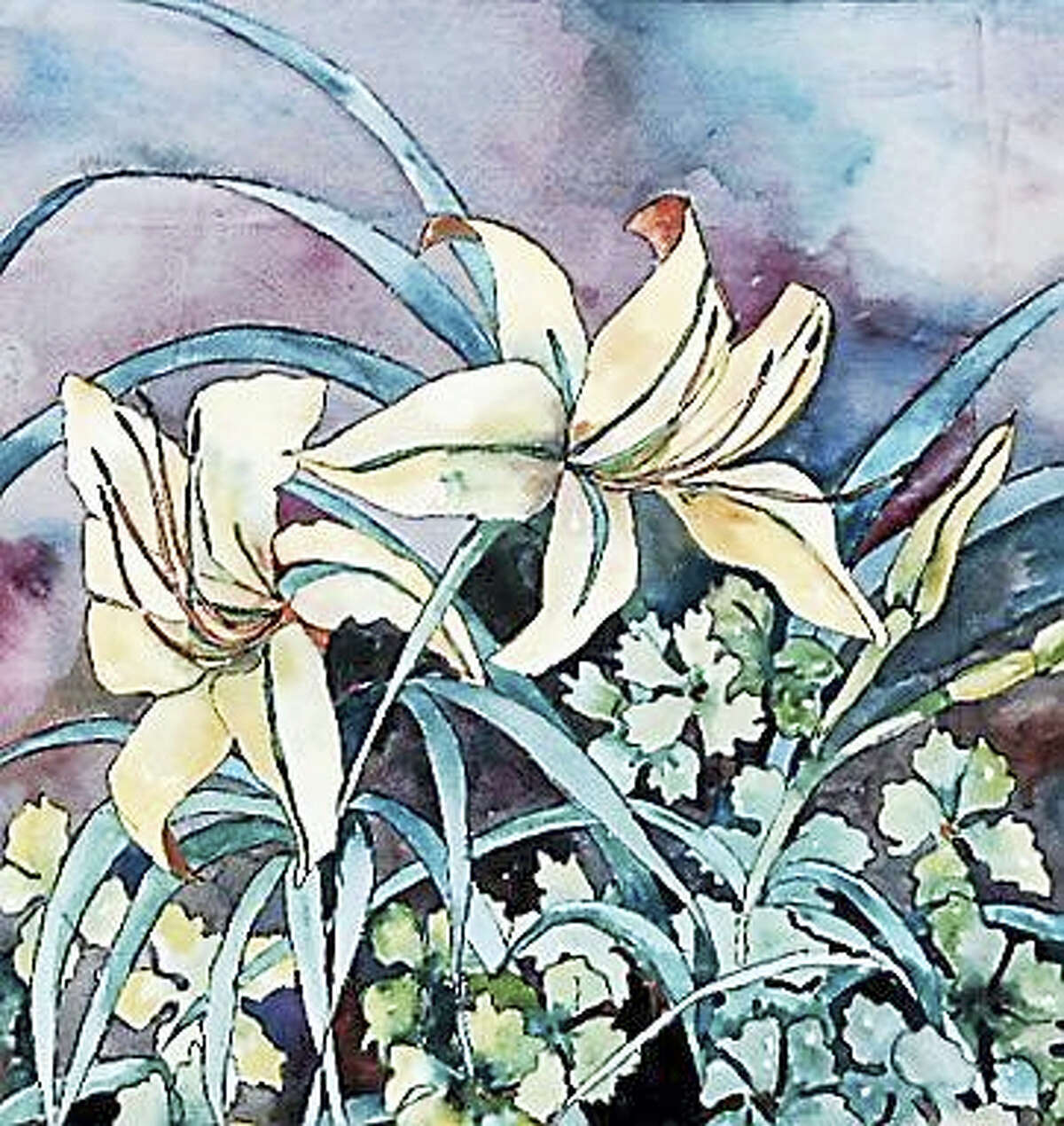 """Contributed photos courtesy of the artistClaudia Van Nes, """"Daylilies."""""""