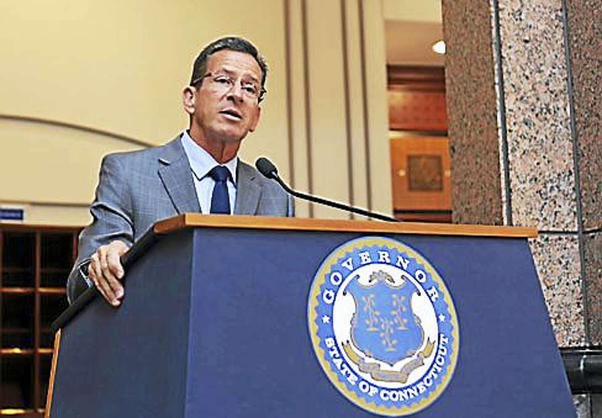 Gov. Dannel P. Malloy following Tuesday's Bond Commission meeting