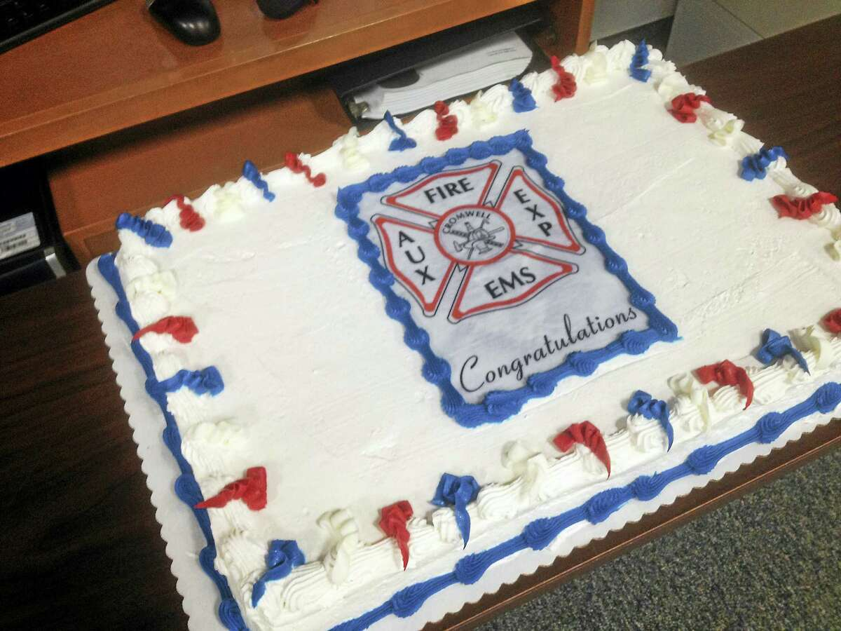 A celebratory cake was enjoyed by all during the ceremony at the Coles Road station.