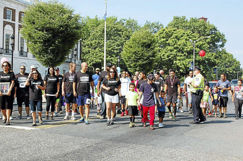 The mile-long walk at the Waterbury Dads Matter Too celebration last year was well-attended. Photo: Courtesy Anthony Gay, DCF