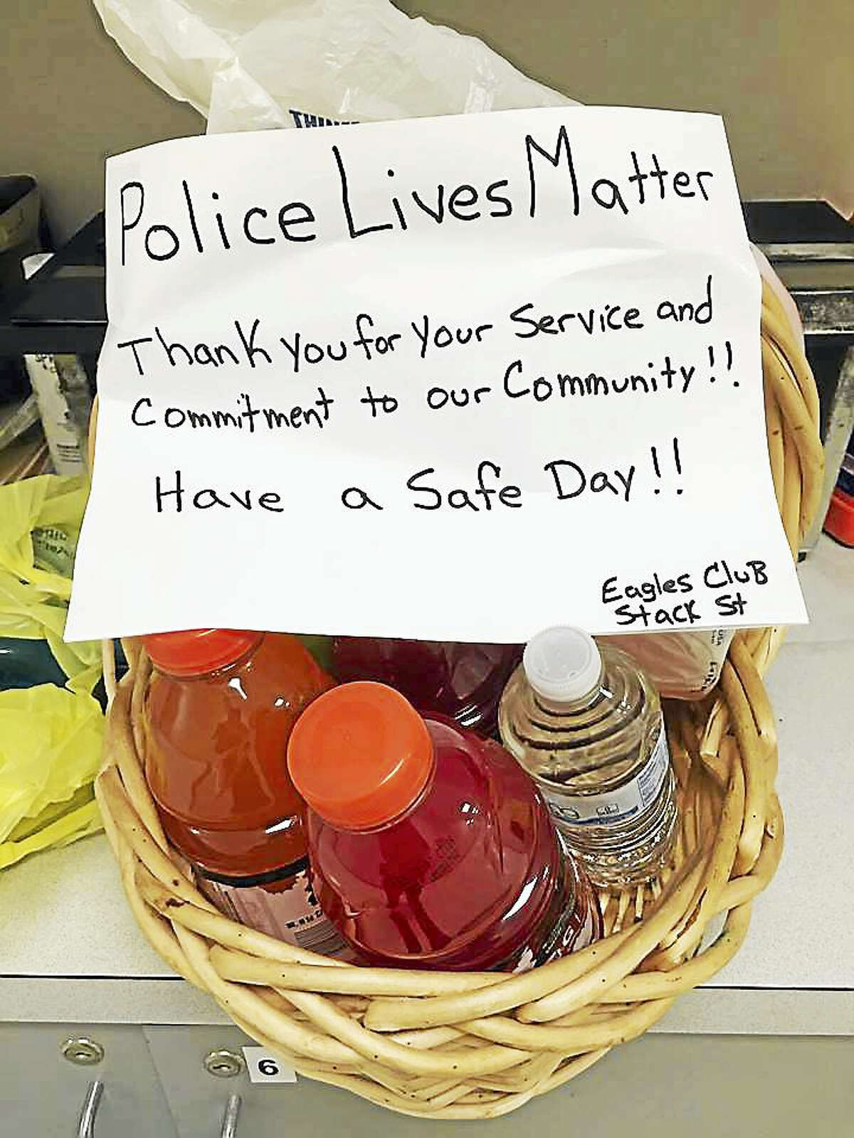 There's been an outpouring of public support for Middletown officers making the trip — donations of food, money, baked goods, fruit baskets and more.