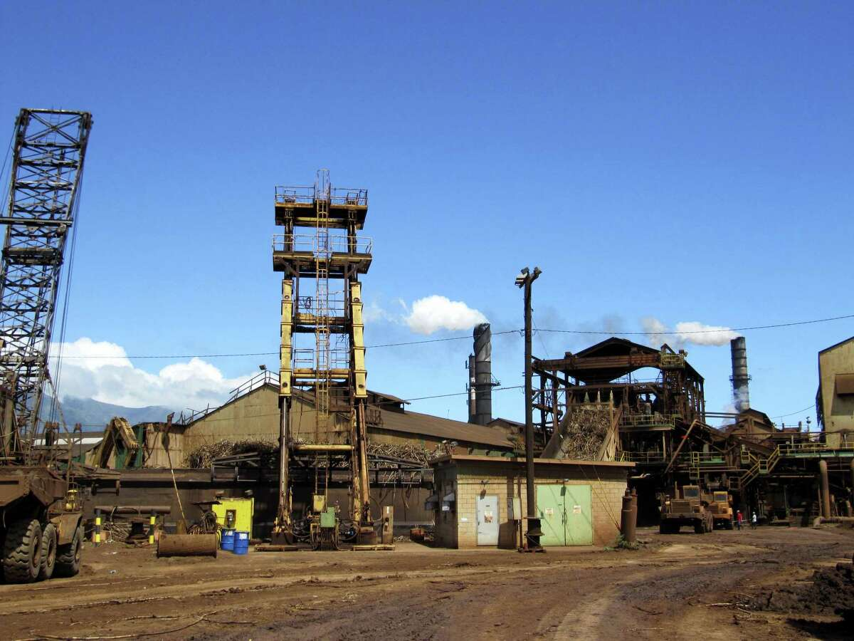 This April 27, 2010 photo shows structures on the Hawaiian Commercial & Sugar plantation in Puunene, Hawaii.