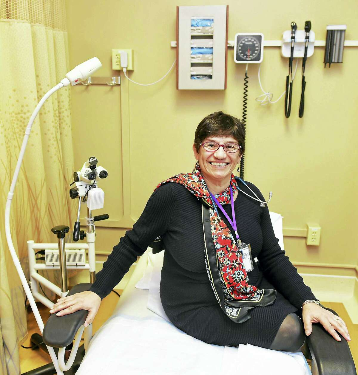 Dr. Luz Vasquez, women's health director at the VA Connecticut Medical Center in her West Haven office.