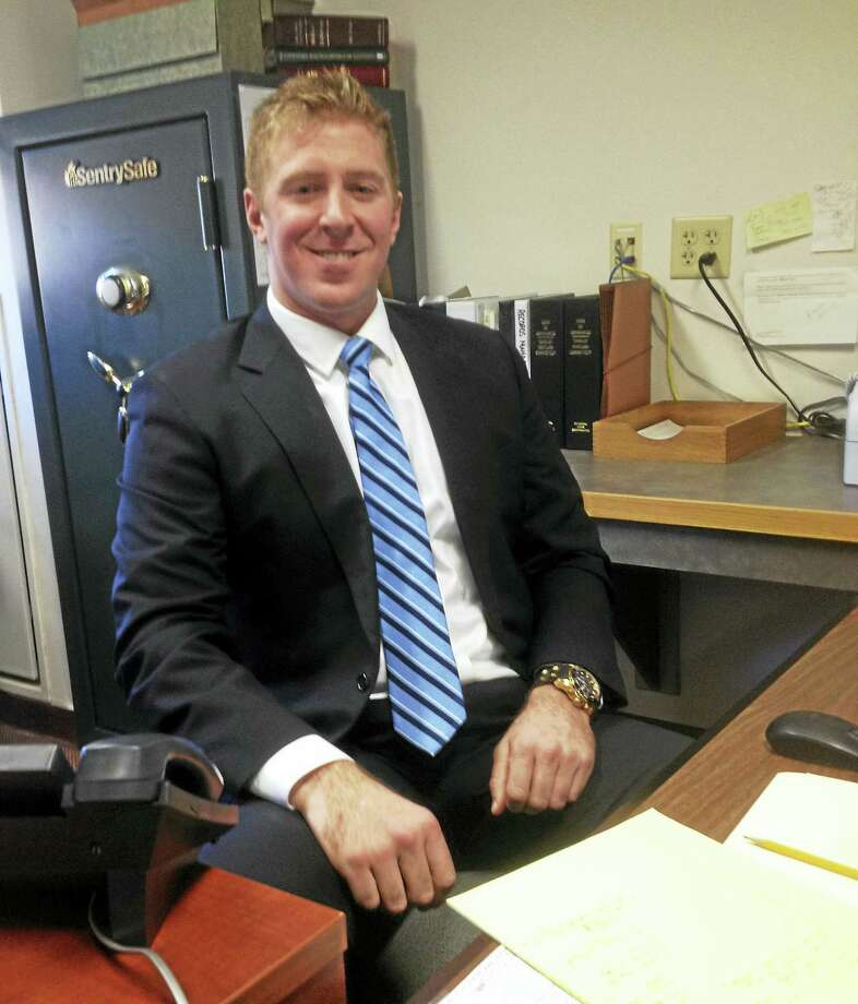 Portland's new Town Clerk Ryan Curley. Photo: Jeff Mill — The Middletown Press