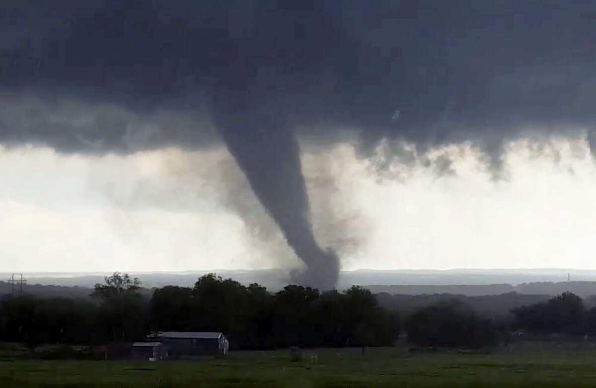 This image taken from video shows a tornado around Wynnewood, Oklahoma on May 9, 2016. With the capacity to do catastrophic damage, the tornado prompted a declaration of a state of emergency for two communities in its path.