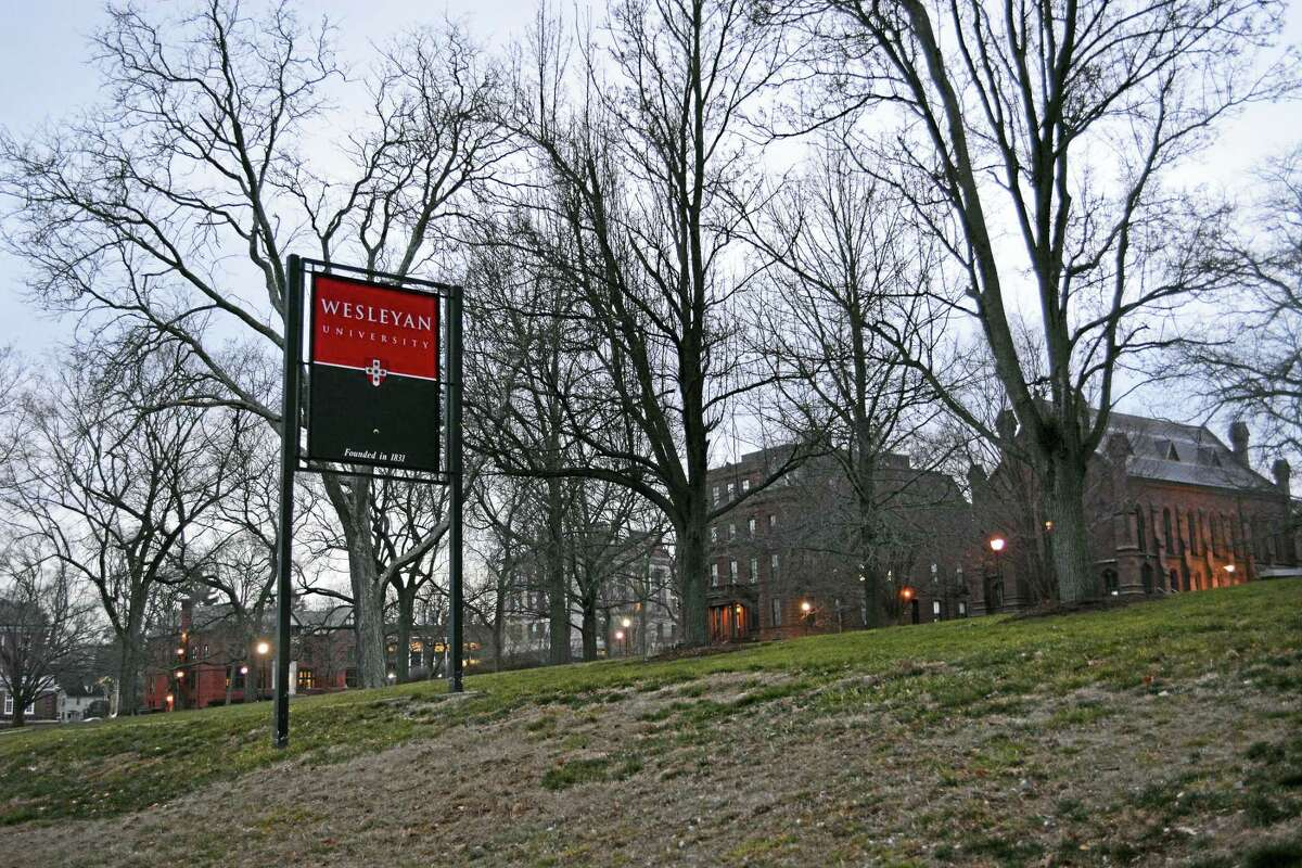 The Wesleyan University campus on High Street in Middletown