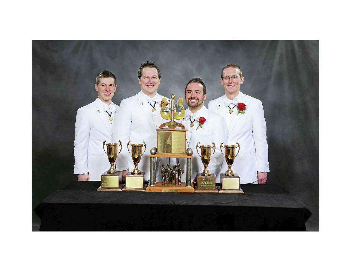 Contributed photoThe Instant Classic Quartet joins the Silk City Chorus at a concert on Jan. 16.
