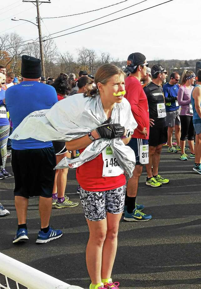 The 959 runners who competed in The Hartford Marathon Movember 5K in 2015 made their way from the Brownstone Discovery Park in Portland, over the Arrigoni Bridge, then crossed the finish line at the Mattabesett Canoe Club in Middletown. Photo: File Photo