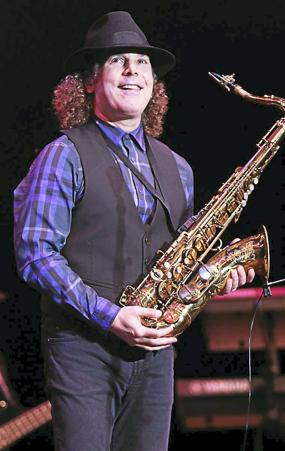"""Photo by John AtashianSaxophonist, songwriter and producer, Boney James, born James Oppenheim, is shown performing on stage during his May 7 concert at the Lyamn Center at Southern Connecticut State University in New Haven. Boney thoroughly entertained the sold out crowd of fans with his biggest hits plus songs from his latest album, """"Futuresoul"""". To view the entire list of upcoming entertainment coming to the Lyman Center, visit www.southernct.edu/lyman."""