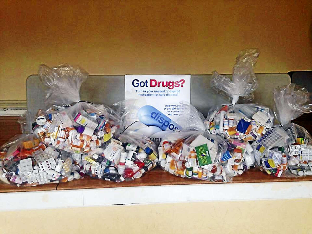 Connecticut State Police recently collected 180 pounds of prescription drugs in Middlefield and Durham which now are headed for proper disposal.