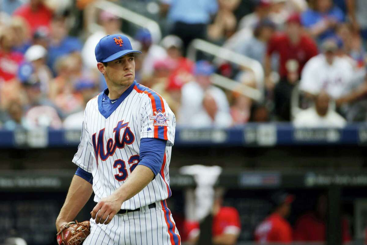 Mets starting pitcher Steven Matz leaves the mound during Sunday's game against the Nationals.