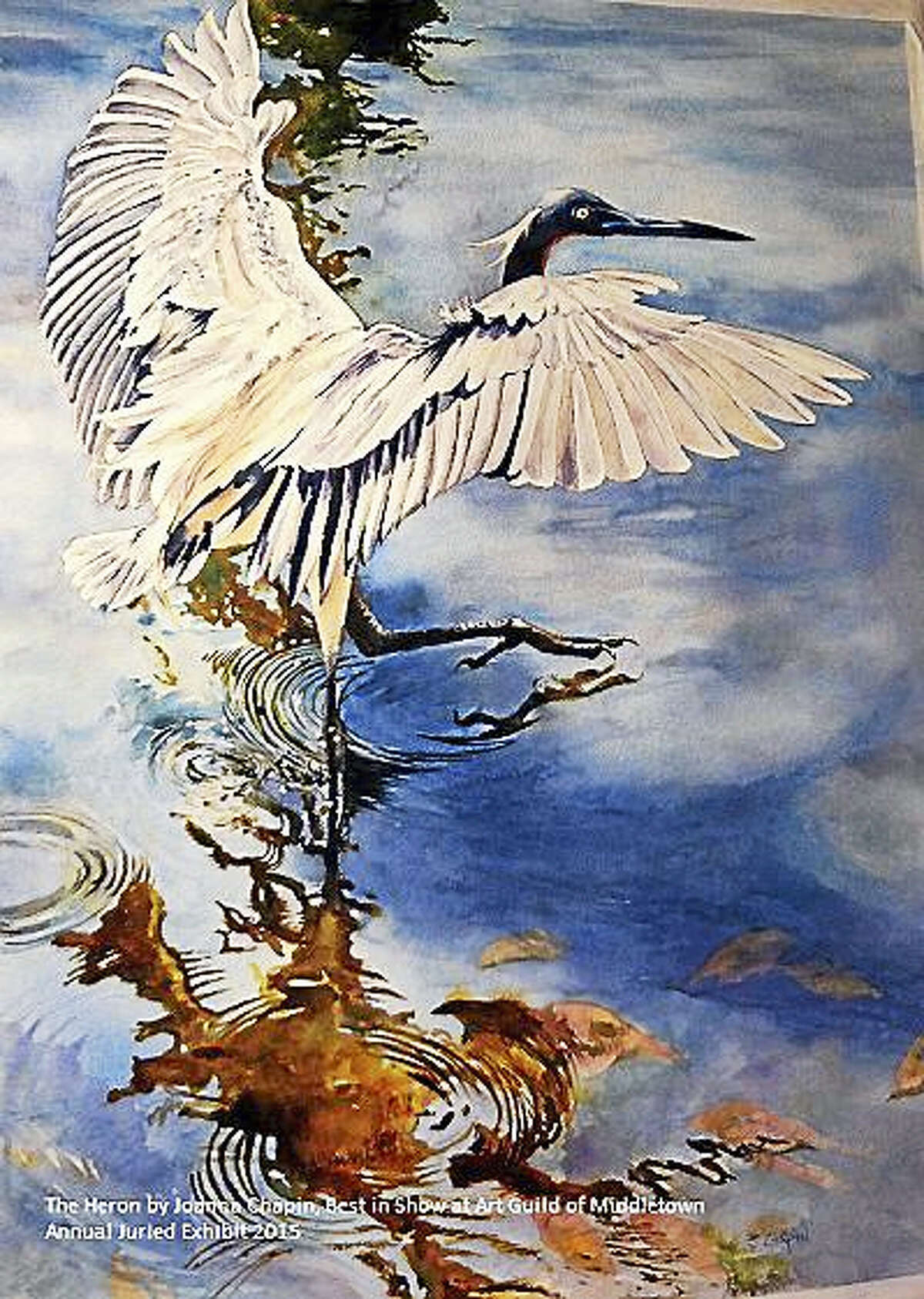 Contributed photo courtesy of the artistThe Heron, by Joanna Chapin, won best in show in 2015 in the Art Guild of Middletown's juried exhibition. This year's exhibition opens June 3; artists are invited to participate.