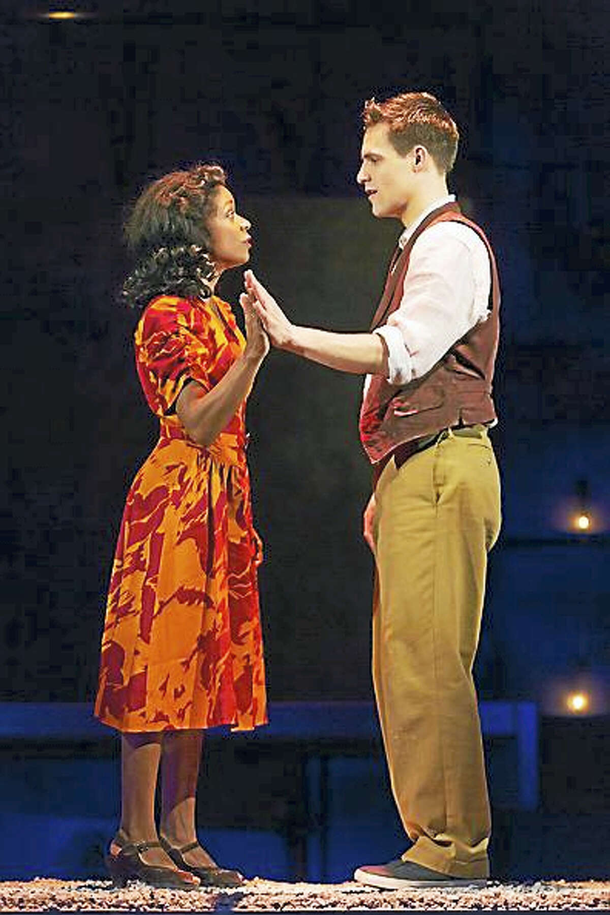 """Contributed photo courtesy of Hartford StageKaliswa Brewster and Chris Ghaffari star in Shakespeare's """"Romeo and Juliet."""""""