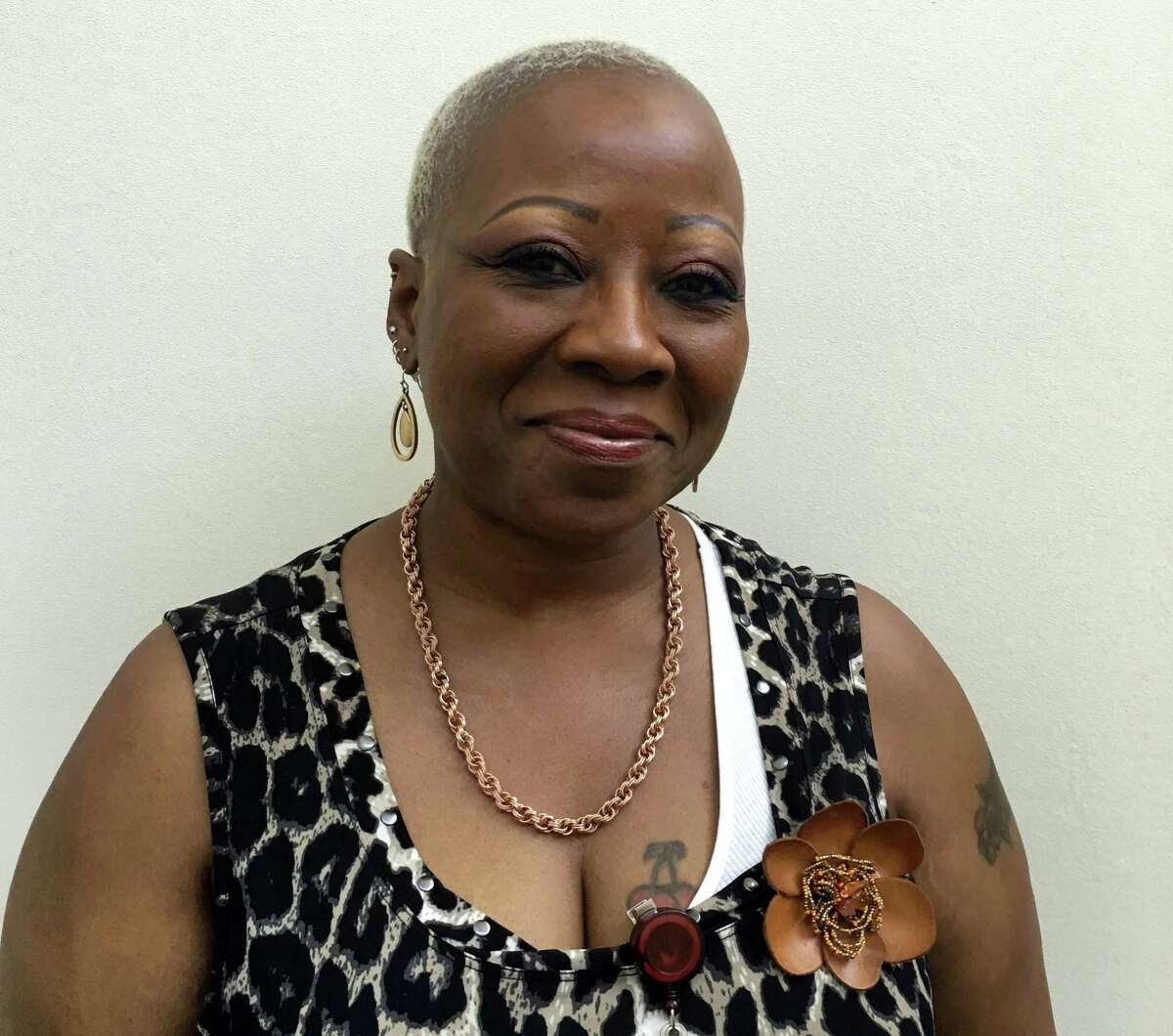 This photo provided by Adam Allington, taken June 17, 2016, shows Marsha Hall. During their working years, women tend to earn less than men, and when they retire, they're more likely to live in poverty.