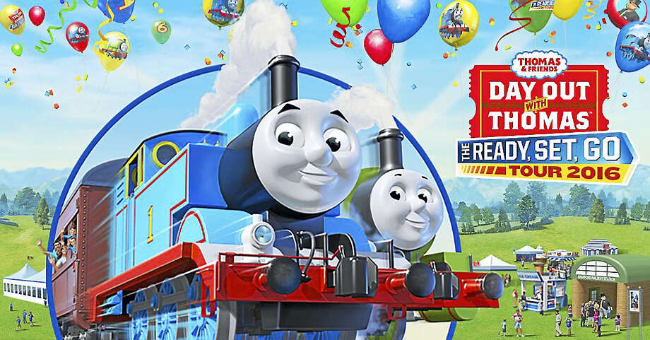 Contributed photoThomas the Tank Engine welcomes children and families to the Essex Steam Train this spring. Photo: Journal Register Co.