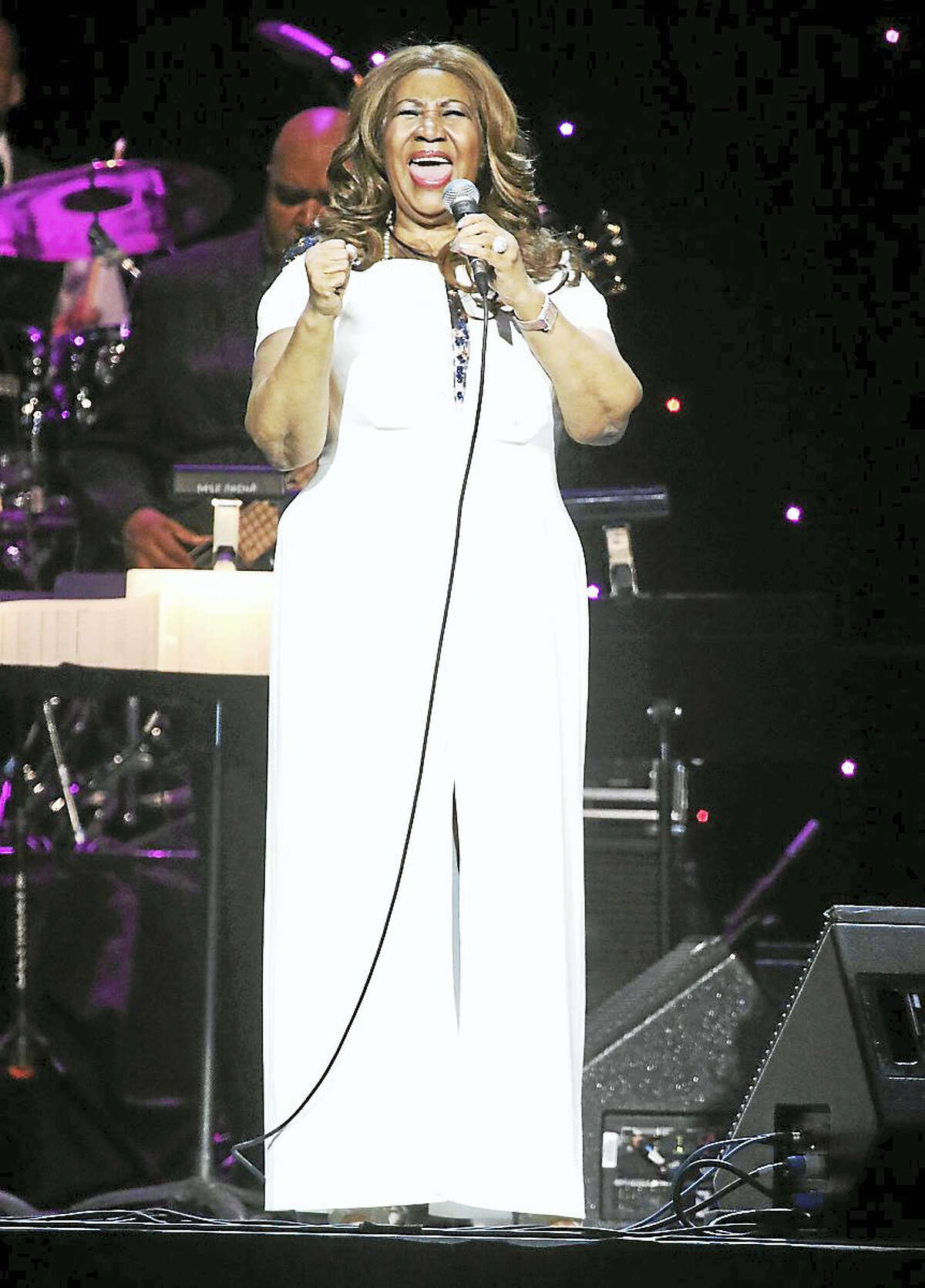Photo by John AtashianSinger and musician Aretha Franklin performs for a sold-out crowd of nearly 9,000 fans at Mohegan Sun Arena Jan. 1. Franklin has won a total of 18 Grammy Awards and is one of the best selling artists of all time, having sold over 75 million records worldwide. Franklin has been honored throughout her career including a 1987 induction into the Rock and Roll Hall of Fame, in which she became the first female performer to be inducted.
