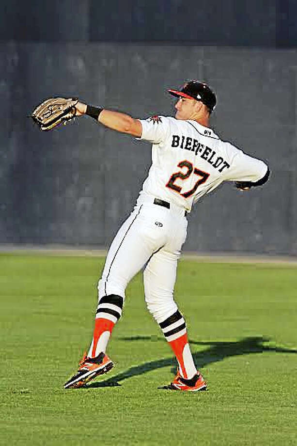 Torrington's Conor Bierfeldt was named the Carolina League player of the month in June. Photo: Photo By Patrick Cavey