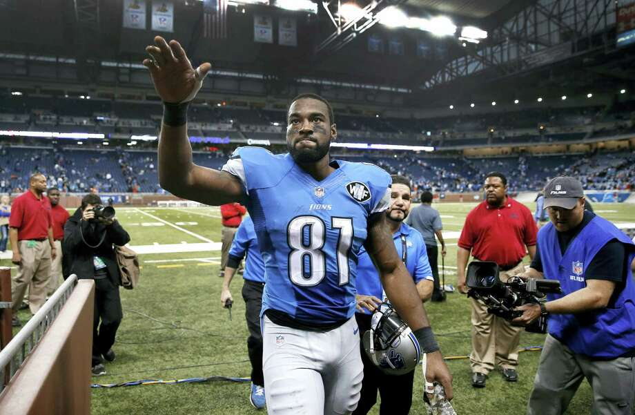 Detroit Lions wide receiver Calvin Johnson announced his decision to retire on Tuesday. Photo: The Associated Press File Photo  / AP