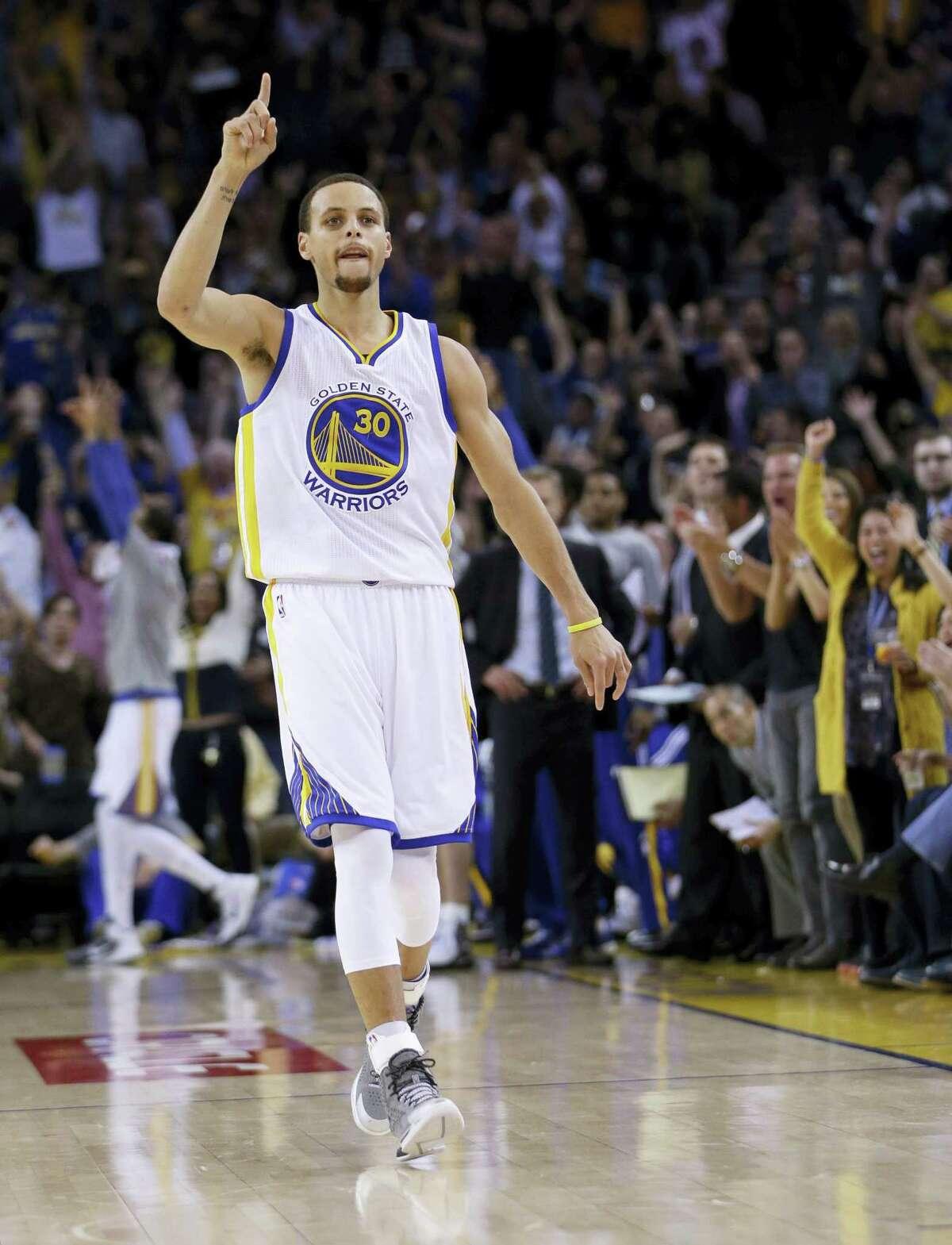 Golden State Warriors' guard Stephen Curry.