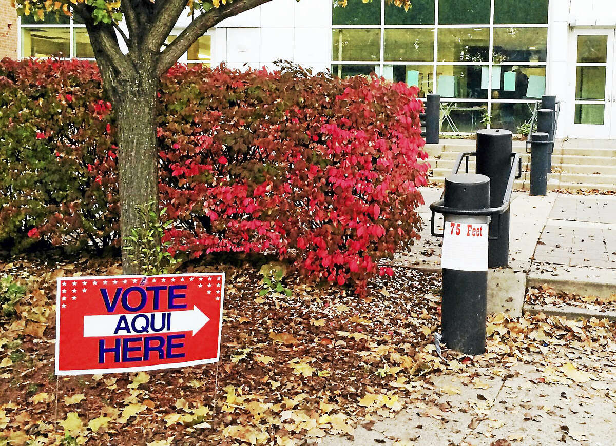 Polls like this one in New Haven are open all across Connecticut. People are set to vote for presidential candidates, members of Congress and dozens of local and state races.